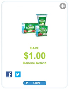 Danone Activia Coupon Save $1 on Danone Activia Yogurt