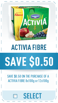 Danone Coupon - Save $0.50 on Danone Activia Fibre Yogurt