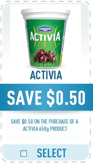 Danone Coupon - Save $0.50 on Danone Activia Yogurt