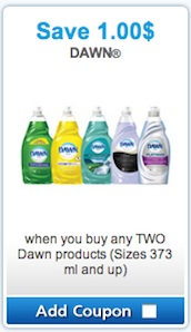 Dawn Coupon 2013 - Save $1 on 2 Dawn Dishwashing liquid