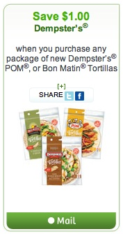 Dempster's Coupon - Save $1 on Dempster's POM or Bon Matin Tortillas