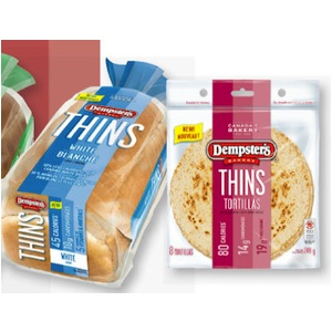 Dempster's coupon - Save on Dempster's Thins Sliced BreadDempster's coupon - Save on Dempster's Thins Sliced Bread