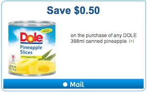 Dole Coupon - Save $0.50 on Dole Canned Pineapple