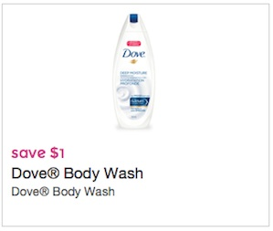 Dove Coupon -Save $1 on Dove Body wash