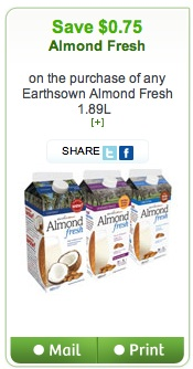 Almond Fresh Coupon Save $0.75 canada only