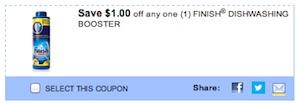 Finish Dishwashing Booster Coupon - Save $1