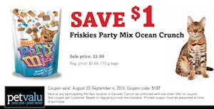 Friskies Cat Food Coupon Save $1 Friskies Party Mix Ocean Crunch