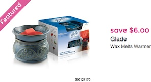 Glade Wax Melts Warmer Coupon Save $6