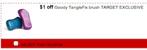 Good Coupon - Save $1 on Goody TangleFIx Brush