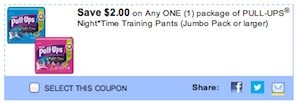 Huggies Coupon - Huggies Pull-ups Night*Time Training Pants Save $2