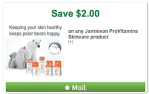 Jamieson Coupon Save $2 on Skincare Canada