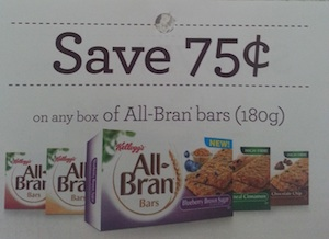 Kellogg's All-Bran Bars Coupon Save $0.75