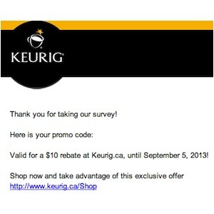 Keurig Coupon - Save $10 at Keurig.ca Promo code
