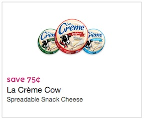 La Creme Cow Cheese Coupon Save $0.75
