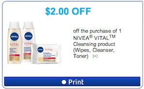 Nivea Vital Cleansing Coupon - Save $2
