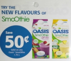 Oasis SmoOthie Coupon Save $0.50