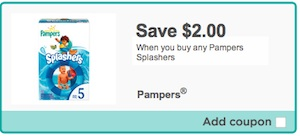 Pampers Splasher's Diaper Coupon Save $2