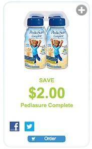 Pediasure coupon - Save $2 on Pediasure Complete