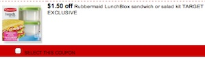 Rubbermaid Coupon - Save  $1.50 on Rubbermaid LunchBlox Sandwich kit