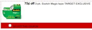 Scotch Magic Tape Coupon - Save $0.75 Target exclusive