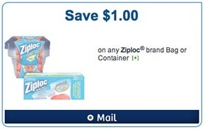 Ziploc Coupon 2013 Save $1 on Ziploc bag or container