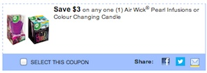 Air wick Coupon - Save $3 on Air Wick Pearl Infusions