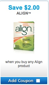 Align Coupon Save $2 on Align Probiotics Products