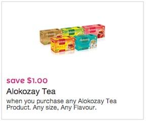 Alokozay Coupon Save $1 on any Alokozay Premium Tea