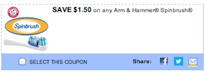 Arm Hammer Toothbrush Coupon Save $1.50