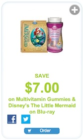 Disney Vitamins & BluRay coupon Save $7