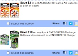 Energizer Coupons Save money on batteries
