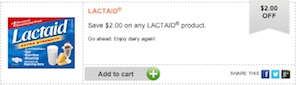 Lactaid Coupon - Save $2 on any Lactaid Product