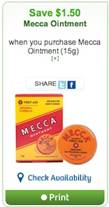 Mecca Ointment Printable Coupon Canada Save $1.50