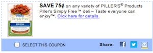Piller's Coupon - Save $0.75 on Piller's Simply Free