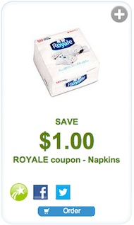 Royale Coupon - Save $1 on Royale Napkins