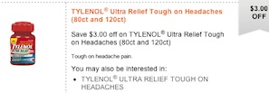 Tylenol Ultra Relief Save $3 Printable Coupon