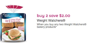 Weight Watchers Coupon - Save $2 on 2 Weight Watchers Bakery products