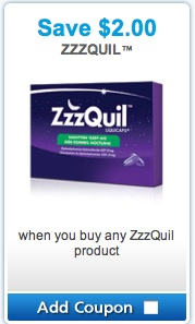 zzzQuil Sleep Aid Products Coupon Save $2 Canada