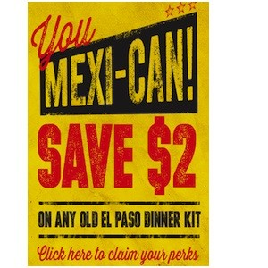 Old El Paso Coupon Save $2 on Old El Paso Dinner Kits canada
