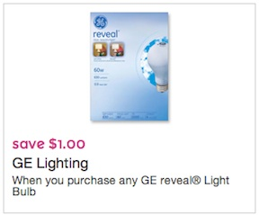 GE Reveal Light Bulb Coupon Save $1