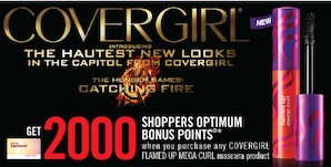 Shoppers Bonus 2000 Optimum Points WUB Covergirl Mascara Oct 4, 2013