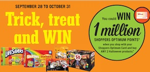 Shoppers Drugmart Contest Win 1 Million Points with two halloween products
