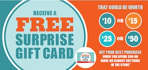 Shoppers Drugmart Free Surprise Gift Card Oct 2013