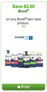 Biore Coupon Save $2 on Skin Care Printed Coupon
