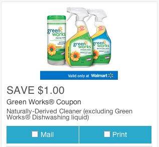 Green Works Coupon Save $1 Mail or Print Coupon