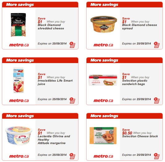 Metro Grocery Coupons - Sept 25, 2014