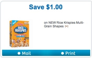 Rice Krispies Coupon - Save $1 on Rice Krispies Cereal Mail or Printed Coupon