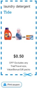 Tide Coupon - Save $0.50 on Tide Liquid Detergent Canada