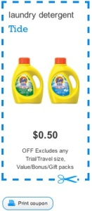 Tide Coupon - Save $0.50 on Laundry Detergent Canada