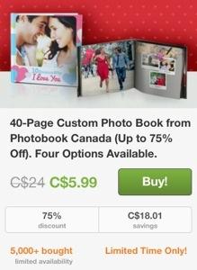Groupon Photobook Canada Deal